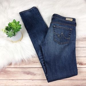 AG Premiere Skinny Straight Distressed Jeans